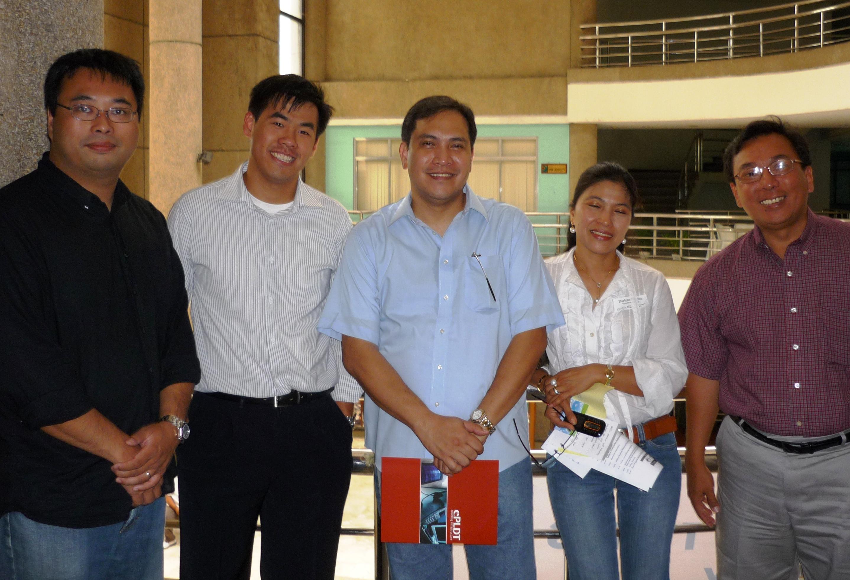 L-r: John Ang,  Commissioner Mon Ibrahim, Bobby Suson and Rene
